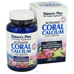 Nature's Plus Activated Coral Calcium - 90 Vegetarian Capsules