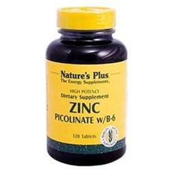 Nature's Plus Zinc Picolinate with B-6 - 120 Tablets