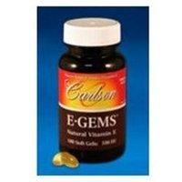 Carlson Laboratories E-Gems 100 IU - 100 Softgels - Vitamin E D'Alpha