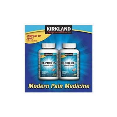 Kirkland Signature Ibuprofen 200mg Two Bottles, 500 Tablets Each Pack of 2