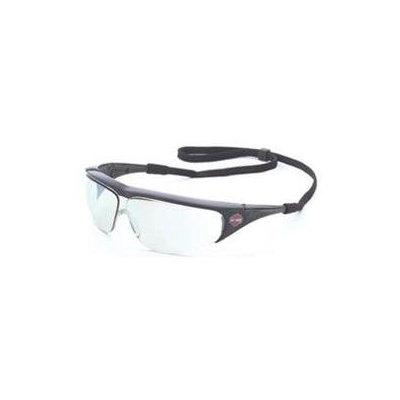 Harley Davidson Glasses: Men's HD401 Silver Mirror Safety Glasses - Black