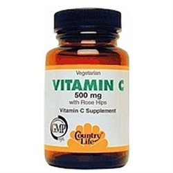 Country Life C 500 W/Rose Hips 500 MG - 100 Tablets - Vitamin C Complex