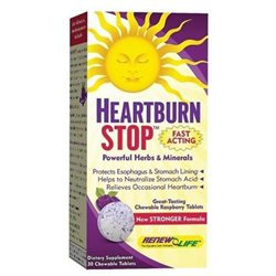 Renew Life Heartburn Stop - 30 Chewable Tablets