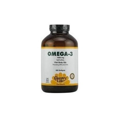 Country Life Omega 3 Fish Oil Softgels