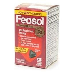 Feosol Iron Supplement Therapy, Ferrous Sulfate, Tablets, 125 ct