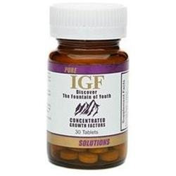 Pure Solutions IGF Concentrated Growth Factors, 30 tablets