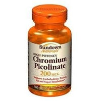 Sundown Naturals High Potency Chromium Picolinate, 200mcg, Tablets