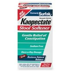 Kaopectate Surfak Stool Softener Liqui-Gels