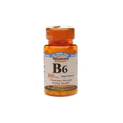 Sundown Naturals Vitamin B6, 100mg, Tablets, 150 ea