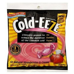 Cold-Eeze Cold Remedy, Strawberries & Cream, 18 lozenges