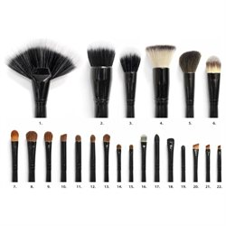 Coastal Scents 22 Piece Cosmetic Brush Set