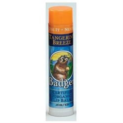 Badger Organic Lip Balm Tangerine Breeze - 0.15 oz
