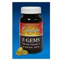 Carlson Laboratories E-Gems Atural Vitamin E) 400 IU - 90 Softgels - Vitamin E D'Alpha