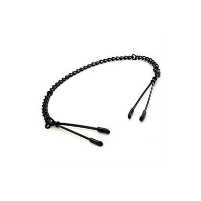 Phs International H2H Nipple Clamps Tweezer W/Chain (Blk)