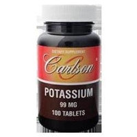 Carlson Laboratories Potassium 99 mg, 100 Tablets, Carlson Labs