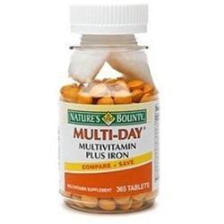 Nature's Bounty Multi-Day Multivitamin Plus Iron, Tablets
