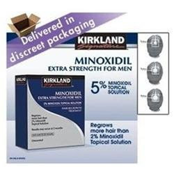 Kirkland Signature Hair Regrowth Treatment Extra Strength for Men 5% Minoxidil Topical Solution 6 mo