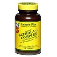 Nature's Plus - Acerola C Complex Chewable Vitamin C 250 mg. - 90 Chewable Tablets