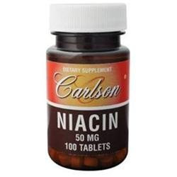 Carlson Laboratories Niacin 50 MG - 100 Tablets - Niacin