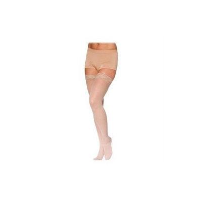 Sigvaris 780 EverSheer 20-30 mmHg Women's Open Toe Thigh High Sock Size: L1, Color: Suntan 36