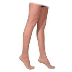 Sigvaris 770 Truly Transparent 20-30 mmHg Women's Closed Toe Thigh High Sock Size: Medium Long, Color: Dark Navy 08