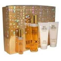 White Diamonds by Elizabeth Taylor for Women 4 Pc Gift Set 3.3oz EDT Spray#44; 3.3oz Perfumed Body Cream#44; 3.3oz Gentle Moisturizing Body Wash#44; 15ml EDP S