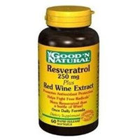 Good 'N Natural - Resveratrol Plus Red Wine Extract Once Daily Formula 250 mg. - 60 Softgels