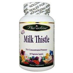 Paradise Herbs Milk Thistle - 120 Vegetarian Capsules
