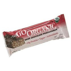 Nugo Nutrition, Organic Dark Chocolate Pomegranate Bars, 12 Bars, 1.