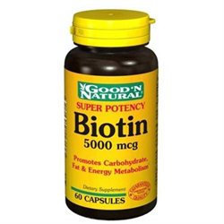 Good 'N Natural - Biotin Super Potency 5000 mcg. - 60 Capsules