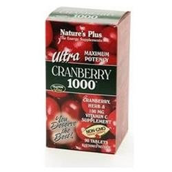 Nature's Plus Ultra Cranberry 1000, Maximum Potency 90 tablets