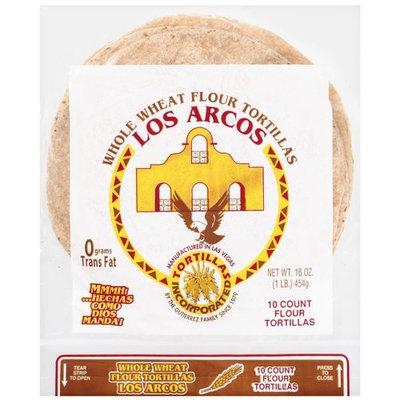 Los Arcos Whole Wheat Flour Tortillas, 10ct