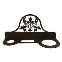 Village Wrought Iron HD-173 Floral Hair Dryer Rack - Black