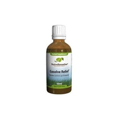 Native Remedies GSR001 Gasolve Relief for Preventing Flatulence Gas and Belching - 50ml