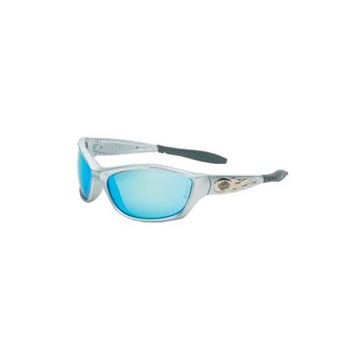 Harley Davidson Harley-Davidson Safety Eyewear 883-HD1000 Hd1000 Series Safety Eyewear Sil Frame Blue Mirr