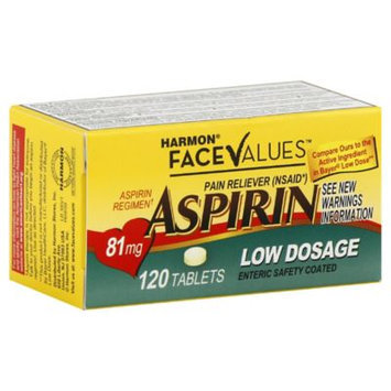 Harmon Face Values 120-Count Low Dosage Aspirin Tablets