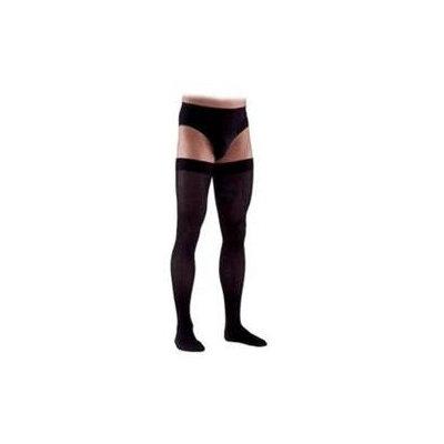 Sigvaris 230 Cotton Series 20-30 mmHg Men's Closed Toe Thigh High Sock - Size: L1, Color: Black 99