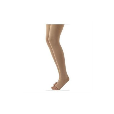 Sigvaris 500 Natural Rubber 40-50 mmHg Open Toe Unisex Thigh High Sock without Grip-Top Size: M2