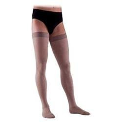 Sigvaris 862NL4M99 860 Select Comfort Series 2030 mmHg Mens Closed Toe Thigh Highs 862N Size L4#44; Color Black 99