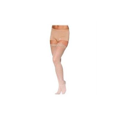 Sigvaris 780 EverSheer 20-30 mmHg Women's Open Toe Thigh High Sock Size: L4, Color: Suntan 36