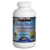 Kirkland Signature Daily Multivitamin & Mineral Tablets, 500 Count Bottle