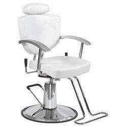 Bestsalon White Fashion All Purpose Hydraulic Recline Barber Chair Shampoo 67W