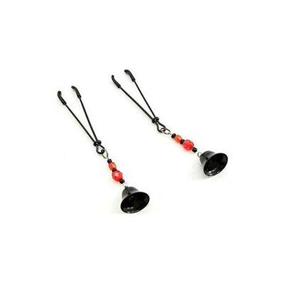Phs International Nipple clamp - Tweezer bell clamps (Black / Red)
