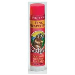 Badger 359042 Lip Balm Pink Grapefruit .15oz Organic