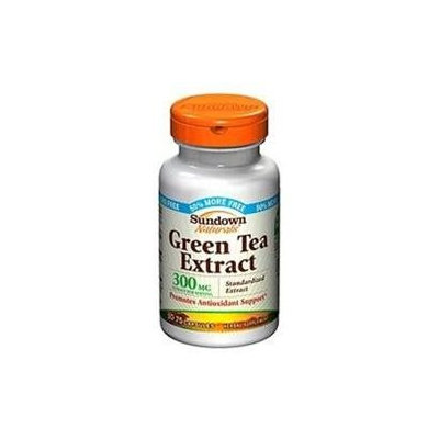 Sundown Naturals Green Tea Extract, 300mg, Capsules, 75 ea