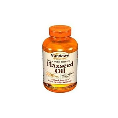 Sundown Naturals Flax Seed Oil, 1000mg, Softgels 200 ea