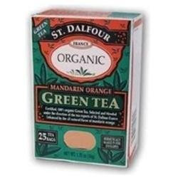 St. Dalfour Organic Green Tea Mandarin Orange - 25 Tea Bags