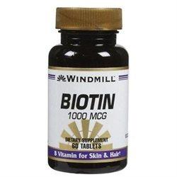 Windmill Biotin 1,000 mcg Tabs, 60 ct