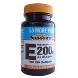 Sundown Naturals Vitamin E 200 IU Softgels - 150 Count