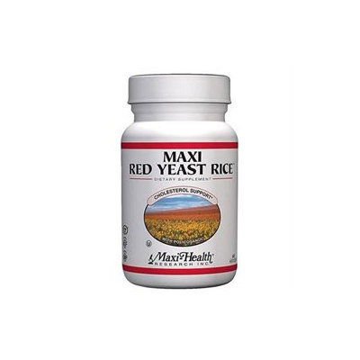 Red Yeast Rice Complex 60 Cap by Maxi Health Kosher Vitamins (1 Each)